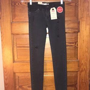 Levi's 710 Super Skinny Black Jeans Girls 8